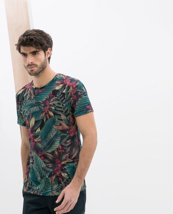 Camiseta Tropical ZARA 17,95€