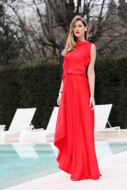Chiara Ferragni, esta vez con un elegante maxivestido