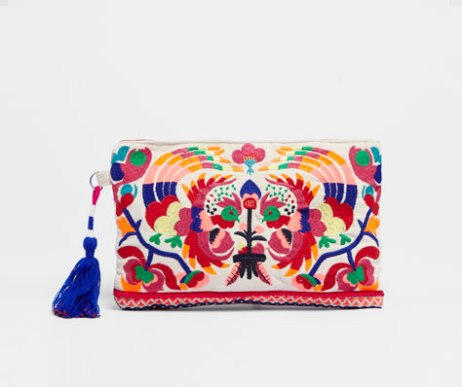 Clutch Bordado 19,99€, de Oysho