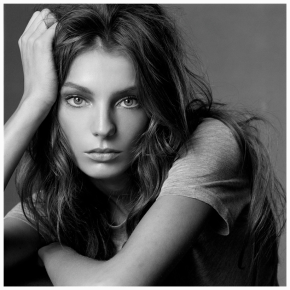 La modelo Daria Werbowy, por Steven Meisel