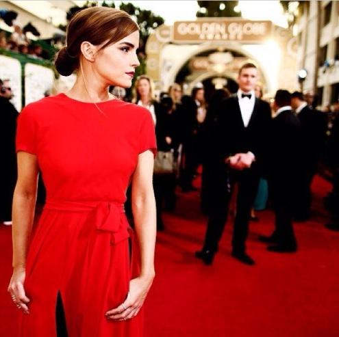 Emma Watson de rojo Dior