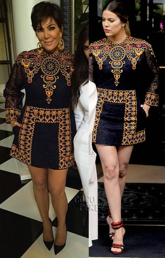 Madre e hija coincidieron con un mini vestido de Valentino. Nos gusta más en Khloe