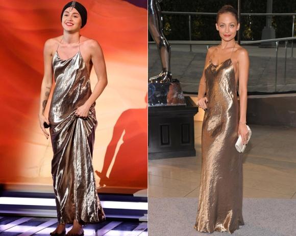 Miley Cyrus y Nicole Richie de Marc Jacobs. Mucho más favorecida y elegante Nicole