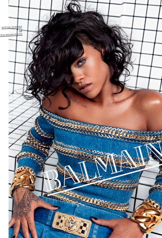 Rihanna posaba así para Balmain Primavera/Verano 2014