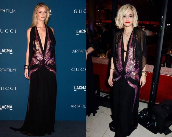 Rita Ora defiende mejor este Gucci que la modelo Rosie Huntington-Whiteley