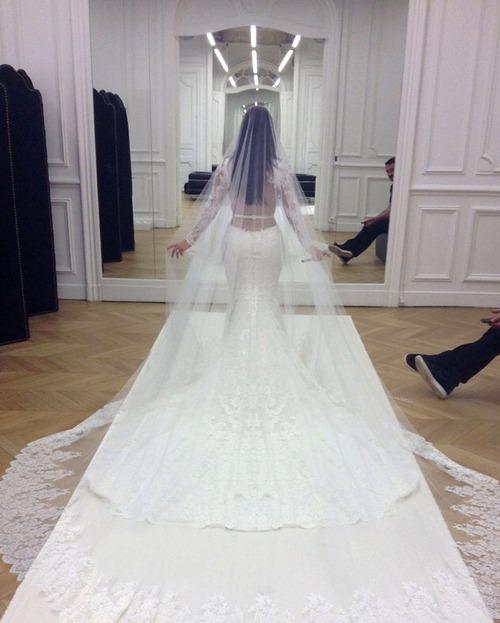 Vista del vestido de novia