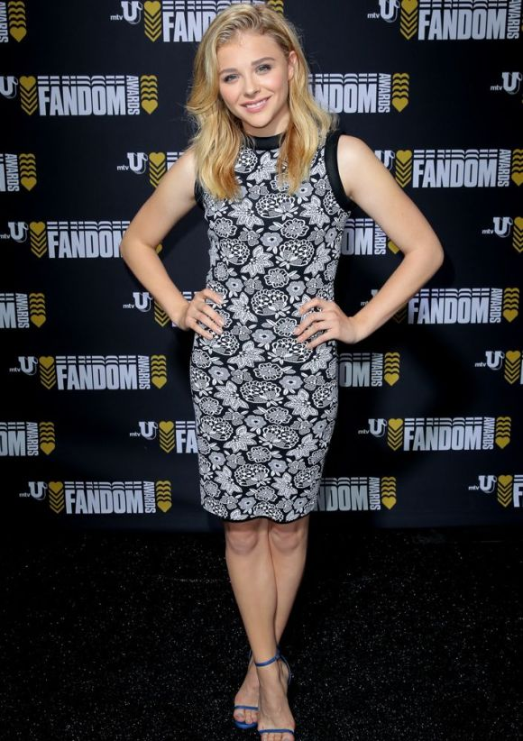 Chloe Moretz de Christopher Kane Resort 2015