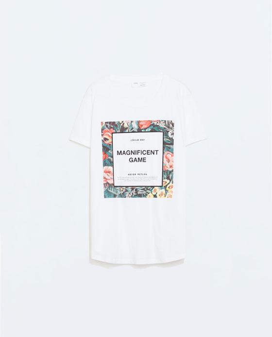Camiseta de Zara 9,95