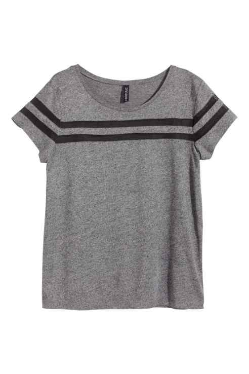 Camiseta Sporty con rayas en malla 9,99€ de H&M