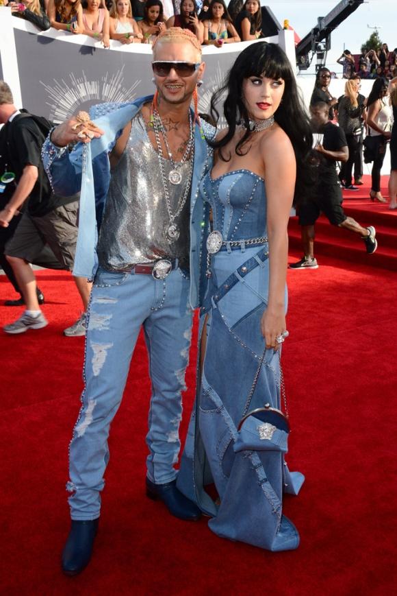Katy Perry y Riff Raff versace