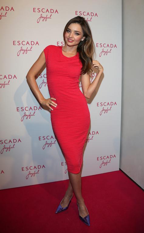 Miranda Kerr en la presentación del perfume Joyful de Escada en Munich