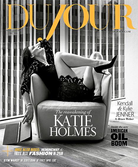 katie holmes dujour magazine cover 2014 look