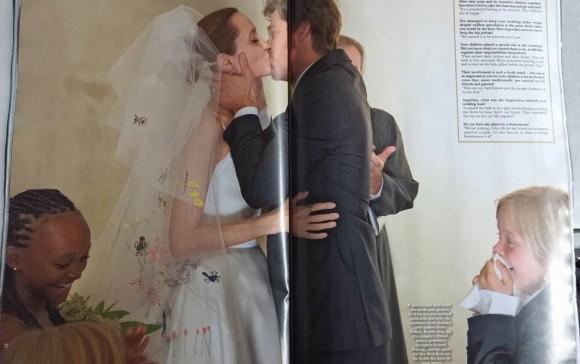 beso de boda brad y angelina