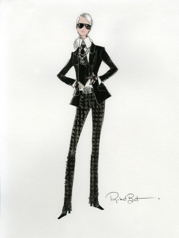 boceto barbie karl lagerfeld 55 aniversario