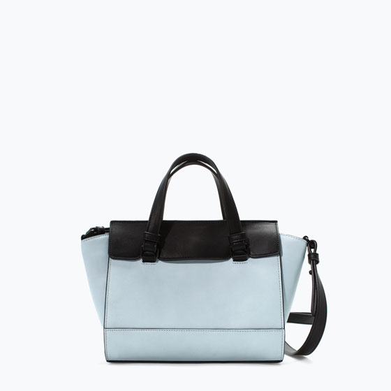 mini city 19,99 zara bolso azul