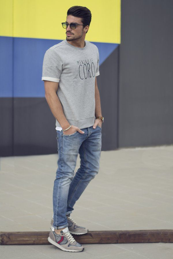 Beige Mens Jeans