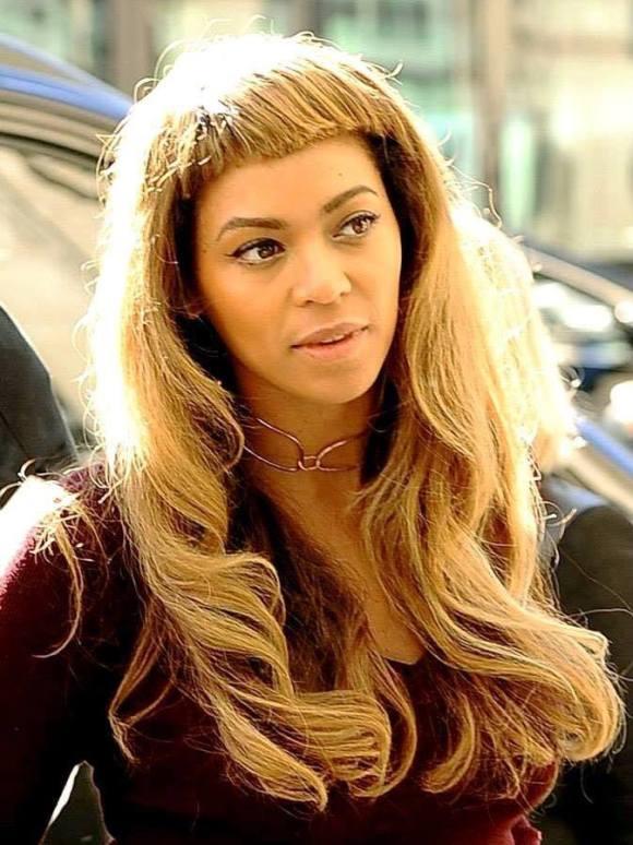 Beyonce 2014 new hair bangs nuevo pelo flequillo