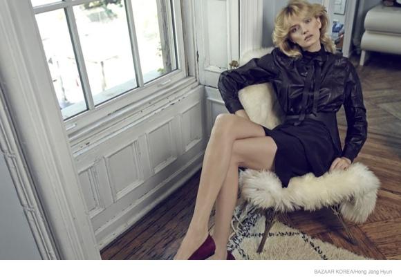 Lily Donaldson para Harper's Bazaar Korea