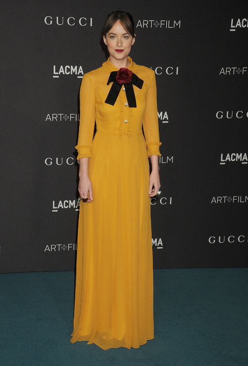 Gucci Dakota Johnson LACMA 2015