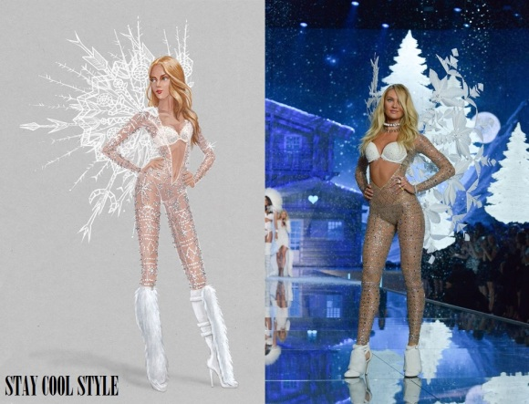Candice Swanepoel como un Ice Angel