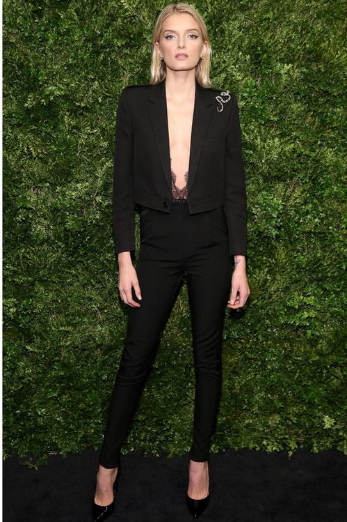 Lily Donaldson saint laurent, lily donaldson elegante,